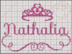 Gráficos com nomes prontos para quem ama ponto cruz. Loom Beading, Beading Patterns, Embroidery Patterns, Knitting Patterns, Crochet Patterns, Cross Stitch Baby, Cross Stitch Embroidery, Cross Stitch Designs, Cross Stitch Patterns