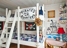 Pirate Kids Room  Barefoot Children - Mermaid Cottages