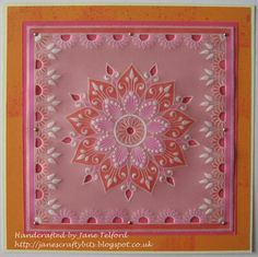 Barbara Gray, Parchment Cards, Paper Cards, Mehndi, Painted Rocks, Crafts To Make, Card Ideas, Projects To Try, Tapestry