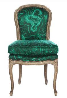 Tony Duquette Malachite Inspired chair-insane