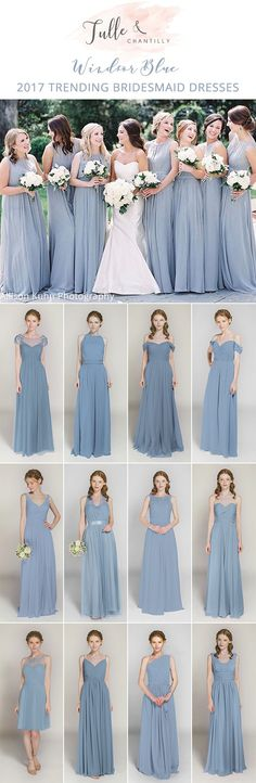 windsor blue bridesmaid dresses for 2017 trends