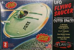 Atlantis Model Company 1/48 UFO Flying Saucer Kit The revival of a model which was proposedly the first Alien Spacecraft model kit. The original is also said to have been used in the movie' Plan 9 From outer Space' Website: CyberModeler 2013 Manufacturer: Atlantis Model Company