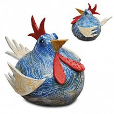 Zany Chicken Southern Pottery Influence