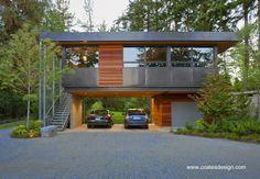 Ellis Residence casa elevada en Bainbridge Island, WA - Arquitectura Coates Design www.coatesdesign.com