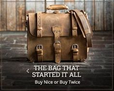 Saddleback Leather Co. : Leather Bags, Briefcases & Luggage for Men & Women