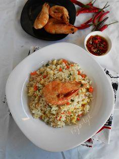 NASI GORENG UDANG TEMPURA | Fiza's Cooking