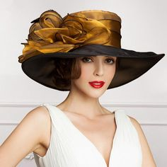 Buy 2015 Ladies Church Hats Organza Wedding Hat Handmade Flowers Women Hats Wide Brim Hats Wedding Party Accessories Custom Made For Women Chanel lipstick Giveaway Wedding Hats, Party Wedding, Wedding Church, Wedding Week, Dress Wedding, Trendy Wedding, Fancy Hats, Kentucky Derby Hats, Wide-brim Hat