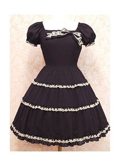 Gothic Lolita Dress with Short Sleeves Lolita clothes