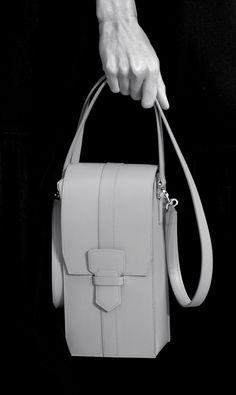 Chic leather handbag, runway fashion accessories // Salvatore Ferragamo Spring 2016