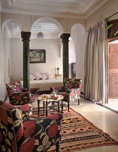 The high ceilings and intricate design aesthetic made Murray feel as though he were living like a sultan for his weekend escape