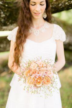 beautiful bouquet - woah! Caroline Marie Photography - A Peasant wedding Chambery - La married barefoot