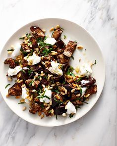 Spiced Eggplant and Buffalo Mozzarella Salad via Sunday Supers
