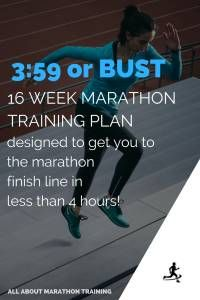 3:59 or BUST 16 Week Marathon Training Plan