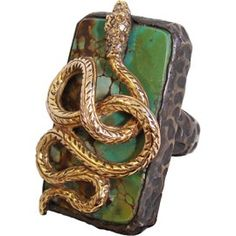 4594188e3d87e Gold and Turquoise Snake Ring Snake Patterns, Snake Jewelry, Jewelry Box,  Gold Jewellery