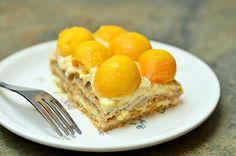 Mango Royale...no bake, #refrigerator cake made with graham crackers ...