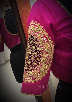 zentangle designs - CutWork bridal blouse in a intricate workmanship to match with your Kancheevaram. 03 October 2017