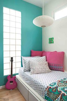 Girly Tips for a Teen Girls Bedroom Decor Ideas Thinking of an accent wall for each of the girls rooms.