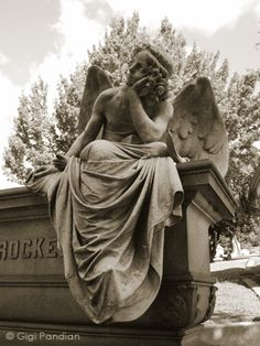 Another view of one of my favorite cemetery angels. Mountain View Cemetery in Oakland, CA.