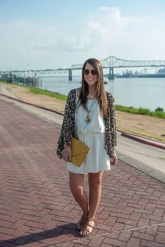Callin' Baton Rouge | LSU Gameday Outfit with Animal Prints (Freret & Napoleon oyster shell necklace featured)