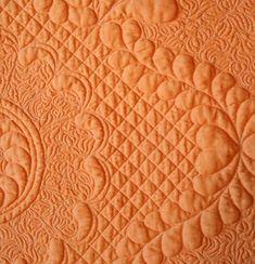close up, Orange Julius by Kim Buzolich at Kim's Quilts - Buzolove