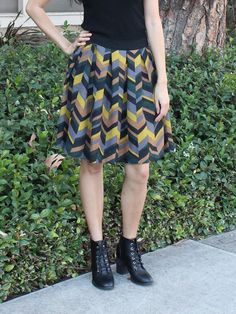 Relished Chevron Skirt