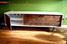 natural wood finish, cabinet, credenza
