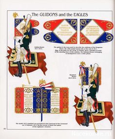 French; Imperial Guard, Dragoon(The Empress' Dragoons) Regt, Standard Bearer, Guidon & Eagles