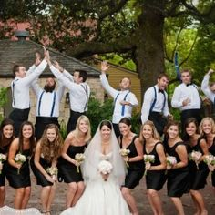 We wonder if the bride and bridesmaids knew what was going on behind them?!