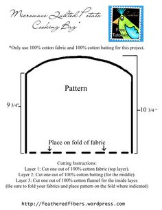 microwave potato bag pattern