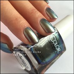 Color Club Oil Slicks – Color Club Cash Only. The whole collection swatched at imabeautygeek.com