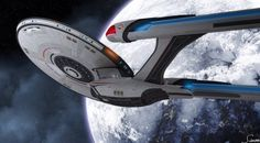 Star Trek USS Enterprise NCC-1071 C (alternate Enterprise C design) This is a cool looking ship!