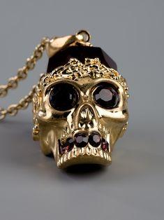 Alexander McQueen #Skull necklace