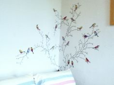 Bird wall stickers from Ikea. Perfect for making rooms look brighter and  more spring like