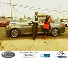 https://flic.kr/p/HLS3CU   Congratulations Stephanie on your #Hyundai #Genesis from Kevin Beasley at Fenton Hyundai!   deliverymaxx.com/DealerReviews.aspx?DealerCode=H248
