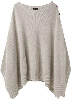 rib knit poncho