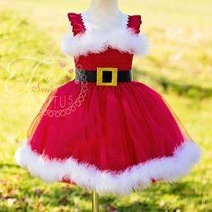 Santa Tutu Dress Mrs. Claus Tutu Dress by FourSweetHeartsTutus
