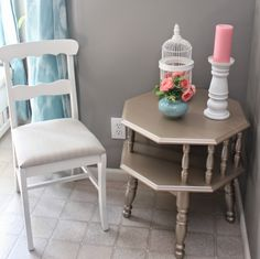 For the Love of Decorating!: Makeover Monday : Heirloom White Desk Chair