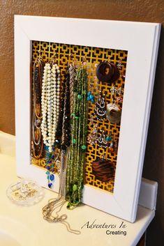 Adventures In Creating: Super Easy DIY Jewelry Holder