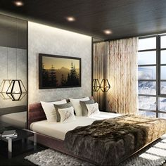 If you've ever found yourself hopelessly scrolling through on social media, we've found something to elevate those wanderlust feels to a whole new level: Kasara Niseko Village Townhous… Master Bedroom Interior, Home Bedroom, Modern Bedroom, Bedroom Decor, Bedroom Ideas, Bedrooms, Townhouse Interior, Cosy Room, Station Balnéaire