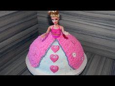 Prinzessin Torte Anleitung Deutsch How to make a princess barbie doll cake w. english subtitle - YouTube