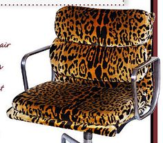 Reupholstered Eames office chair. Genius.  November 2012 - Lonny Magazine - Lonny