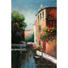 Real Handmade Venice Oil painting