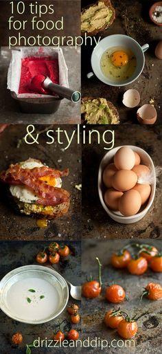Diese inspirierende Zusammenstellung von 10 Tipps für die Foodfotografie gibt es auf dem Blog von Drizzle and Dip