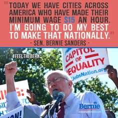No one will fight harder for the American people against income inequality than Bernie Sanders. #Bernie2016 #RaiseTheWage
