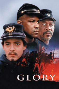 Directed by Edward Zwick. With Matthew Broderick, Denzel Washington, Cary Elwes, Morgan Freeman. Robert Gould Shaw leads the US Civil War's first all-black volunteer company, fighting prejudices of both his own Union army and the Confederates. Films Cinema, Cinema Tv, Old Movies, Great Movies, See Movie, Movie Tv, Civil War Movies, Cary Elwes, Image Film