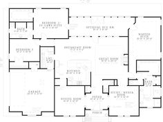 Southern House Plan First Floor 055D-0547  from houseplansandmore.com