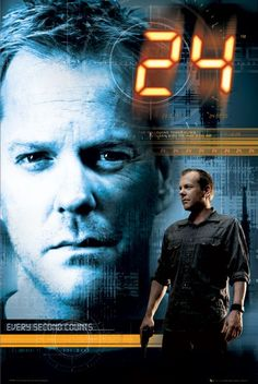 Kiefer Sutherland - 24 Each season all happened in one day. Lots of violent interrogations due to the limited amount of time and the seriousness of the situations happening. It was extreme and makes us believe violent tactics will get results. We all know that is not the case.