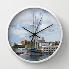 Sailing Boat at Grenada Wall Clock by Christine aka stine1 - $30.00