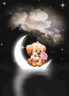Hund_Blume_Mond_Nacht