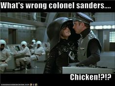 What's the matter, Colonel Sanders? Movie Memes, Movie Tv, Moving Pictures, Funny Pictures, Funny Pics, Mel Brooks Movies, Rick Moranis, Name That Movie, Colonel Sanders